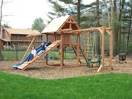 wooden swing set elegant playhouse plans free of build a your own lovely