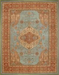 brown and aqua area rugs