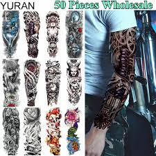 Yuran 50 Pieces Wholesale Long 48x17cm Tattoo Temporary Full Machine