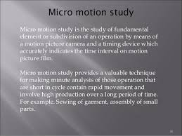 recording techniques used in method study ppt micro motion