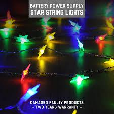 Battery Operated Christmas Lights Dc5v Led Star Shape Fairy Lights Christmas Lights Indoor 5m