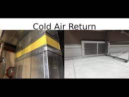 installing a cold air return in a