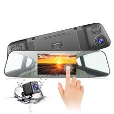 <b>Dash Cam</b> JEEMAK Mirror <b>Car Camera</b> 1080P <b>4.3 Inch</b> Touch ...