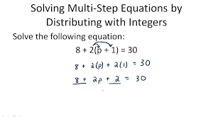 multi step equations with like terms and distribution algebra ck 12 foundation