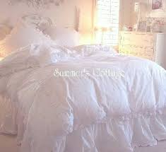 cal king rachel ashwell shabby chic white ruffled bedskirt dust ruffle simply shabby chic 129 95