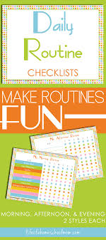 Daily Routine Printable Free Daily Routines Checklist Printables Life Of A