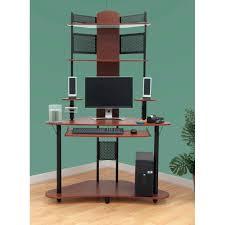 Studio Designs Arch Tower Computer Desk Charming Above Desk Shelves Furniture Shelf Ideas Height