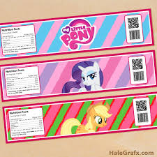 Small Picture FREE Printable My Little Pony Birthday Invitation Set