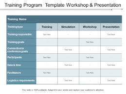 Training Program Template Workshop And Presentation Ppt