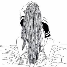 bed drawing tumblr.  Tumblr Black And White Simple Tumblr Outline Hair Bed Girl On Bed Drawing Tumblr