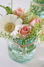 Mason Jar Flower Arrangement | VIBEKE DESIGN We have beautiful arrangements  like these on bloomnation.