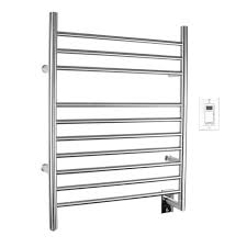 heated towel bar. WarmlyYours Infinity 10-Bar Electric Towel Warmer In Brushed Stainless Steel Heated Bar The Home Depot