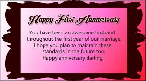 One Year Anniversary Quotes 80 Wonderful Happy First Wedding Anniversary Message To My Husband
