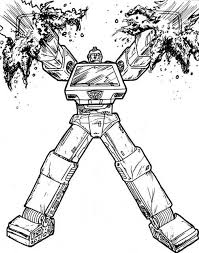 Ironhide Transformers Coloring Pages For Kids Transformers