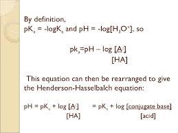 Henderson Hasselbalch Henderson Hasselbalch Equation