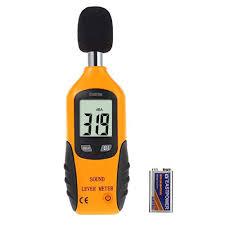 Decibel Meter With Warning Light Cadrim Digital Sound Level Meter Decibel Meter Noise