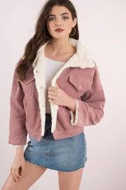 sa sage best of corduroy mauve faux fur jacket