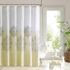 Indian Floral Patterned Shower Curtains Sets For Bathroom With A Clawfoot  Tub With Potted Plants