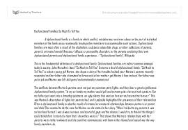 dysfunctional families so much to tell you gcse english marked  document image preview