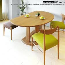 the oak wood solid natural width cm half circle dining table small set
