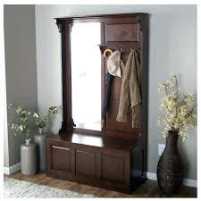 Coat Rack Bench With Mirror Interesting Mirror Coat Rack Hall Tree With Bench And Storage Full Length