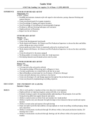 Artist Resume Sample Storyboard Artist Resume Samples Velvet Jobs 69