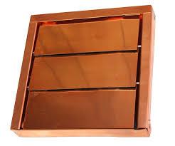 copper 3 louver wall vent