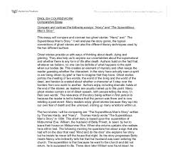 this essay will compare and contrast two ghost stories harry  document image preview