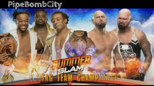wwe summerslam 2016 match card new day vs gallows anderson official