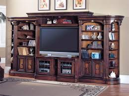 Huntington 6 Piece Entertainment Wall Unit in Chestnut Finish by
