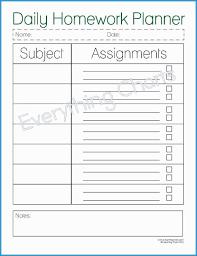 Free Homework Planner Student Planner Template Free Printable Luxury 6 Best Of College