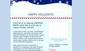 Family Newsletter Template Free Download Winter Holiday