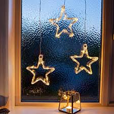 2x Led Stern Fensterdeko Weihnachtsdeko Timer Batteriebetrieb Lights4fun