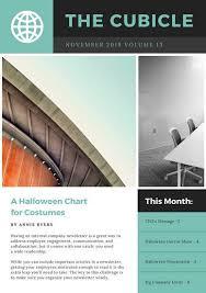 Modern Newsetter Resume Templates Teal Grey Modern Photo Employee Newsletter Newsletter