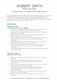 Sample Resume For Retail Vitadance Me