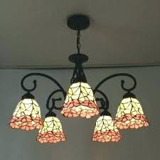 stained glass light from boring kitchen lamp