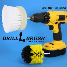 Bathroom Surface Tile and Grout Power Scrubbing Brushes - Revolver ...