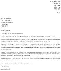 Pest Control Cover Letter Example