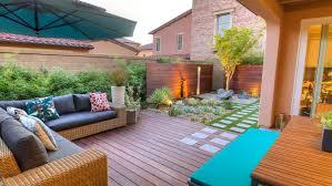 modern zen garden and patio