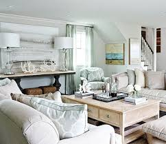 Coastal Light Blue And Neutral Beach House Living Room. Decor  IdeasDecorating ...