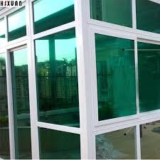 glass door one way mirror decorative clear window green solar reflective office glass door glass door