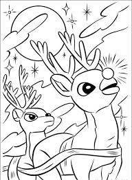 Santa Claus And Rudolph Coloring Pages Weareeachother Coloring