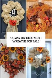 easy diy deco mesh wreaths for fall cover