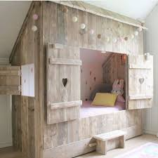 Charming This Stylish Rustic Hideaway Bed Is A Great DIY Solution For A Kids Room.  Any
