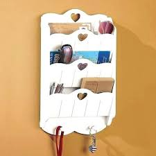 letter holder wall wall letter organizer wall mounted mail organizer key rack white wood storage hanging