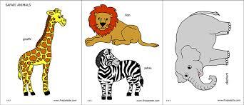 Safari Animals Template Safari Or African Savanna Animals Free Printable Templates