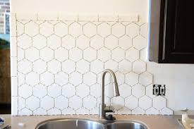 white hexagon tile backsplash 8