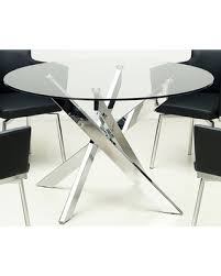 round glass dining table. Chintaly Dusty Round Glass Dining Table - Dusty-dt JZBDSHF
