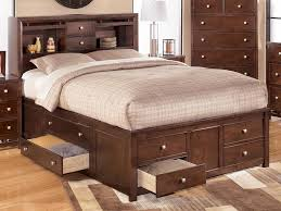 image of full size bed with storage plans