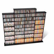 prepac black quad width wall storage for multimedia dvd cd bma 1520 k